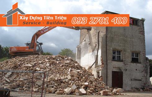 Công ty phá dỡ công trình nhà cũ Quận 12 Tiền Triệu