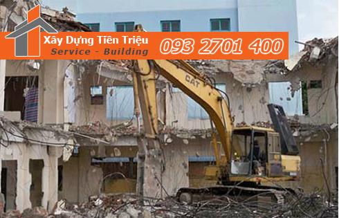 Thi công phá dỡ công trình bằng cơ giới Quận Tân Phú.
