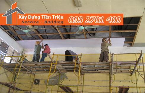 Quy trình làm việc của công ty Tiền Triệu với dịch vụ sửa nhà quận 6 trọn gói uy tín như sau: