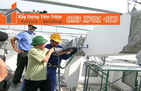 Phá dỡ công trình tại quận Phú Nhuận uy tín chuyên nghiệp.