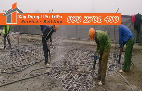Tháo dỡ công trình nhà cao tầng ở Quận Gò Vấp.