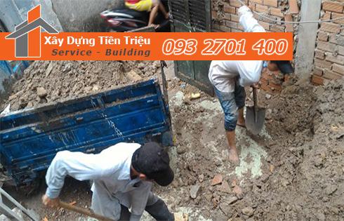 Hốt xà bần Huyện Nhà Bè trọn gói công ty Tiền Triệu.