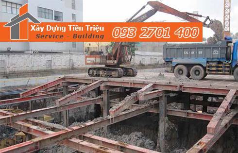Dịch vụ đào đất tầng hầm CTY Tiền Triệu Quận 12.