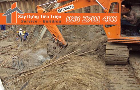 Dịch vụ đào đất tầng hầm CTY Tiền Triệu Quận 2.