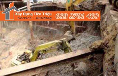 Dịch vụ đào đất tầng hầm CTY Tiền Triệu Quận 4.