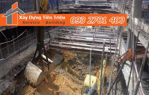 Dịch vụ đào đất tầng hầm CTY Tiền Triệu Quận 5.