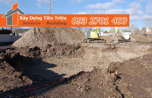 Dịch vụ đào đất tầng hầm CTY Tiền Triệu Quận 6.