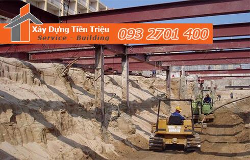 Dịch vụ đào đất tầng hầm CTY Tiền Triệu Quận 7.