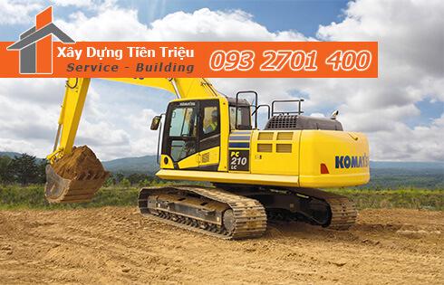 Đào đất móng công trình bằng cơ giới Biên Hòa Đồng Nai.