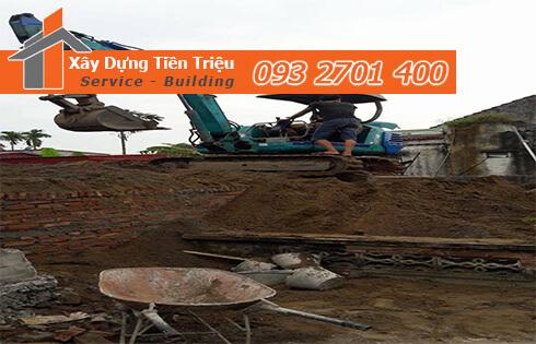 Đào đất móng công trình bằng cơ giới Huyện Cần Giờ.