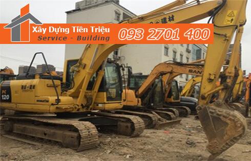 Đào đất móng công trình bằng cơ giới Huyện Hóc Môn.