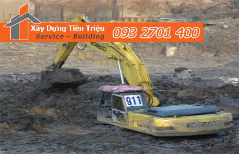 Xây dựng Tiền Triệu nhận thi công đào đất móng công trình Huyện Nhà Bè uy tín.