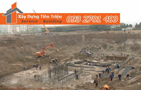 Đào đất móng công trình bằng cơ giới Quận Bình Tân.