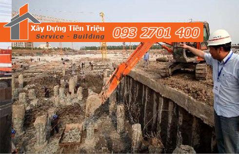 Đào đất móng công trình bằng cơ giới Quận Bình Thạnh.