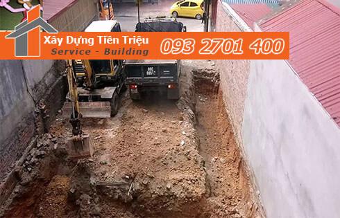 Đào đất móng công trình bằng cơ giới Quận Gò Vấp.