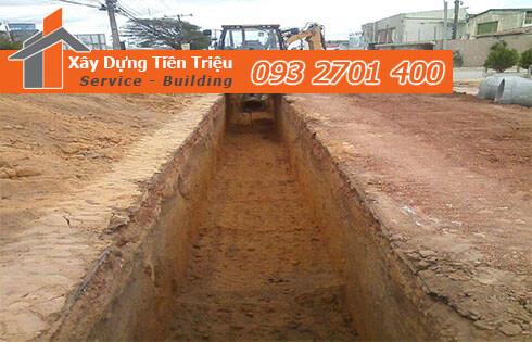 Đào đất móng công trình bằng cơ giới Quận Phú Nhuận.