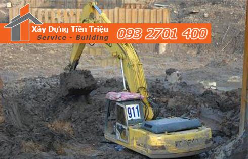 Dịch vụ đào đất tầng hầm CTY Tiền Triệu Biên Hòa Đồng Nai