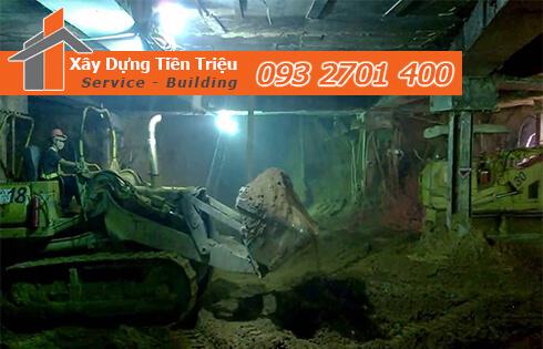 Dịch vụ đào đất tầng hầm CTY Tiền Triệu Huyện Bình Chánh