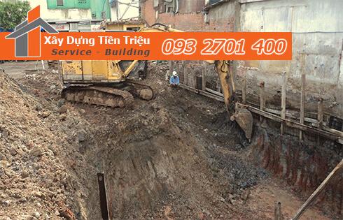 Dịch vụ đào đất tầng hầm CTY Tiền Triệu Huyện Cần Giờ .