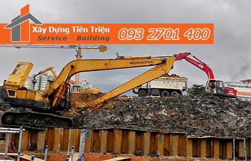 Dịch vụ đào đất tầng hầm CTY Tiền Triệu Quận 8.