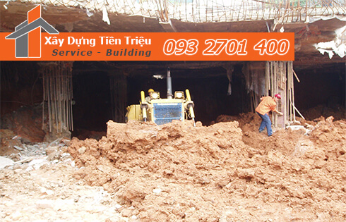 Dịch vụ đào đất tầng hầm CTY Tiền Triệu Quận 9.