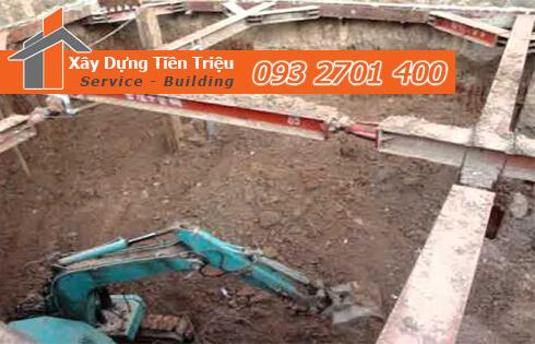Dịch vụ đào đất tầng hầm CTY Tiền Triệu Bình Dương