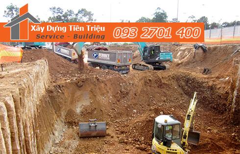 Dịch vụ đào đất tầng hầm CTY Tiền Triệu Huyện Hóc Môn .