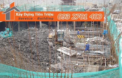 Dịch vụ đào đất tầng hầm CTY Tiền Triệu Quận Phú Nhuận .