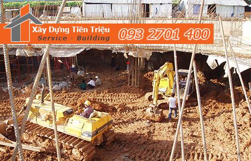Dịch vụ đào đất tầng hầm CTY Tiền Triệu Quận Tân Phú .