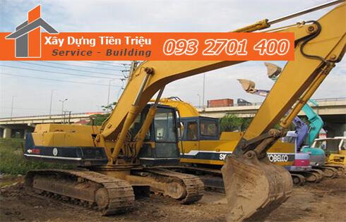 Đào móng công trình cơ giới Biên Hòa Đồng Nai.