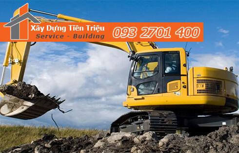 Đào móng công trình cơ giới Huyện Bình Chánh.