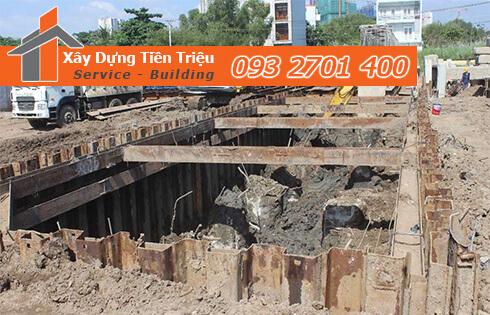 Công ty Tiền Triệu nhận thầu đào móng công trình ở Huyện Hóc Môn.