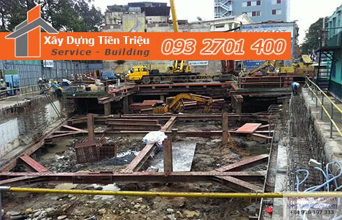 Đào móng công trình cơ giới Huyện Nhà Bè.