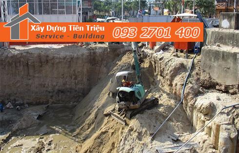 Đào móng công trình cơ giới Quận Bình Tân.
