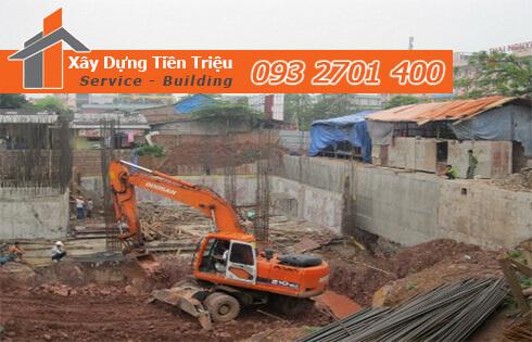 Đào móng công trình cơ giới Quận Gò Vấp.