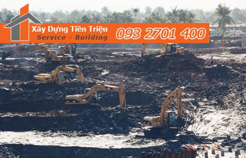 Đào móng công trình cơ giới Quận Phú Nhuận.