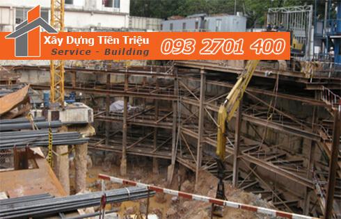 Đào móng công trình cơ giới Quận Tân Bình.