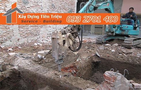 Đơn giá đào móng bằng máy ỏ Huyện Bình Chánh CTY Tiền Triệu.