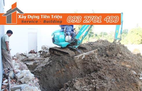 Đơn giá đào móng bằng máy ỏ Huyện Cần Giờ CTY Tiền Triệu.