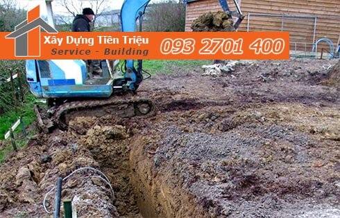 Đơn giá đào móng bằng máy ỏ Quận 1 CTY Tiền Triệu.