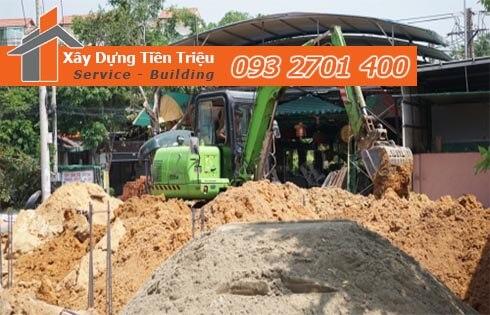 Đơn giá đào móng bằng máy ỏ Quận 10 CTY Tiền Triệu.