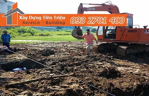 Đơn giá đào móng bằng máy ỏ Quận 2 CTY Tiền Triệu.