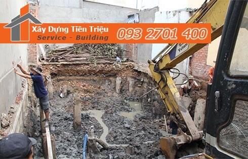Đơn giá đào móng bằng máy ỏ Quận 3 CTY Tiền Triệu.
