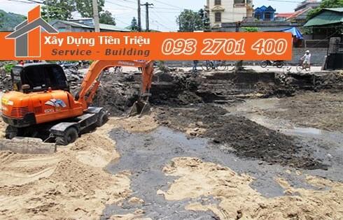 Đơn giá đào móng bằng máy ỏ Quận 4 CTY Tiền Triệu.