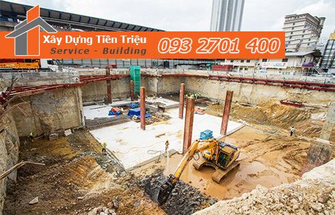 Đơn giá đào móng bằng máy ỏ Quận 5 CTY Tiền Triệu.