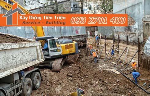 Đơn giá đào móng bằng máy ỏ Quận 6 CTY Tiền Triệu.