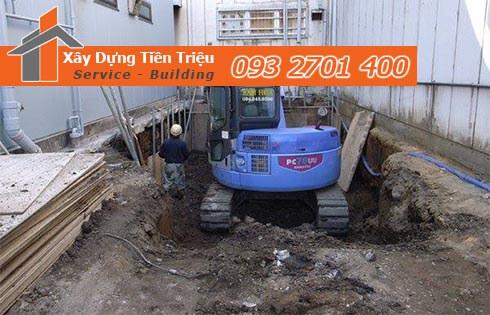 Đơn giá đào móng bằng máy ỏ Quận 9 CTY Tiền Triệu.