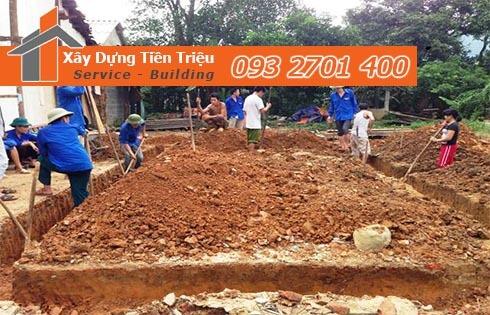 Đơn giá đào móng bằng máy ỏ Quận Bình Thạnh CTY Tiền Triệu.