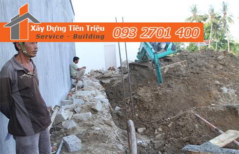 Đơn giá đào móng bằng máy ỏ Quận Thủ Đức CTY Tiền Triệu.