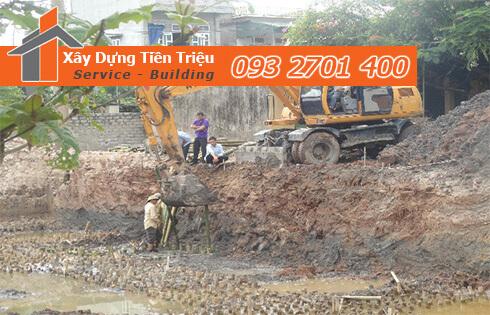 Xây dựng Tiền Triệu nhận thi công đào đất móng công trình Huyện Củ Chi uy tín.